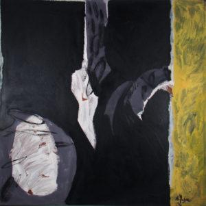 acrylique sur bois, 122 x 122 cm, 1988