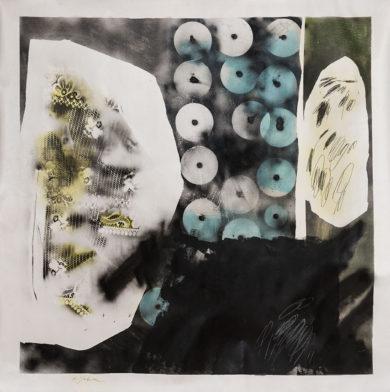 De la série « Ratures », acrylique, aérosol et crayon, 160 x 180 cm, 2016
