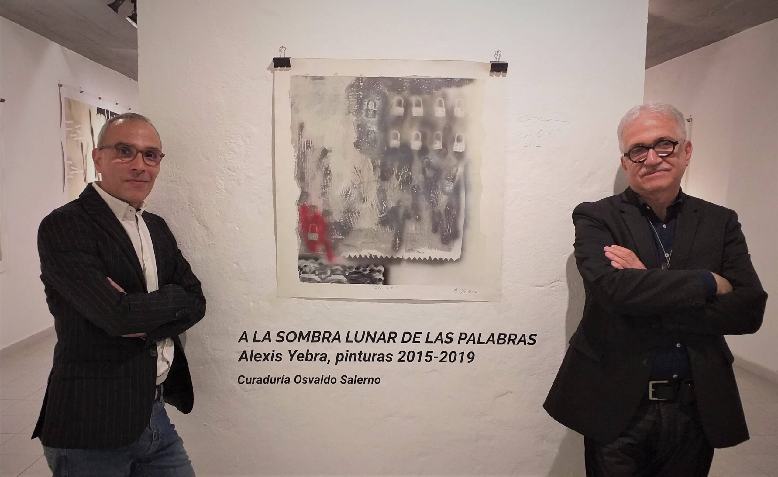 Osvaldo Salerno, curator of the exhibition, and Alexis Yebra