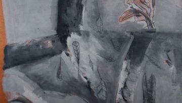 acrílico y grafito sobre madera, 122 x 122 cm, 1991