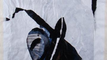 collage y acrílico sobre papel, 100 x 80 cm, 2007