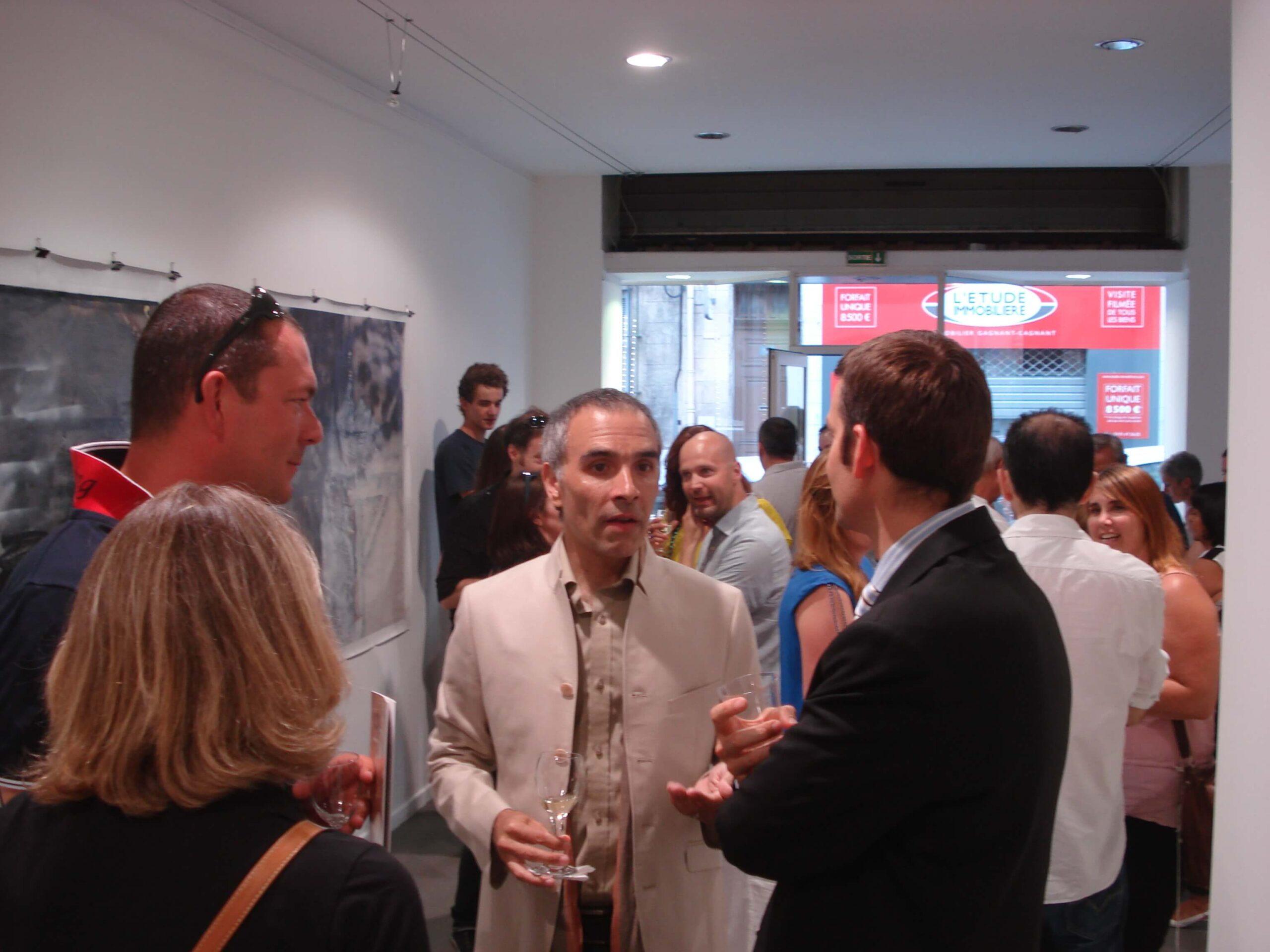 inauguración en la galería Paradis