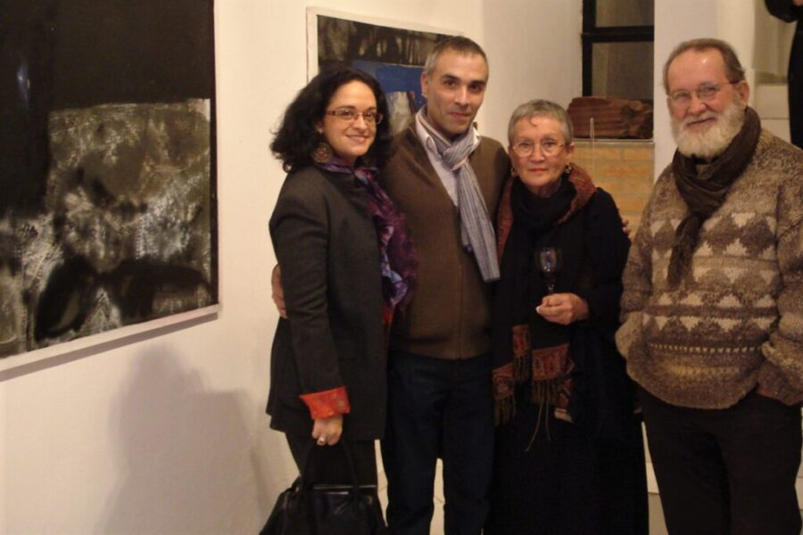 the artists Lucy and Ángel Yegros, Nathalie Lacoste and Alexis Yebra