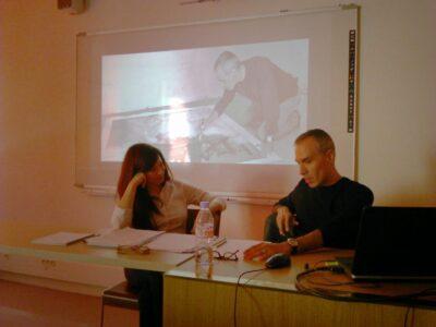 Dialogue between Agnès Callu and Alexis Yebra