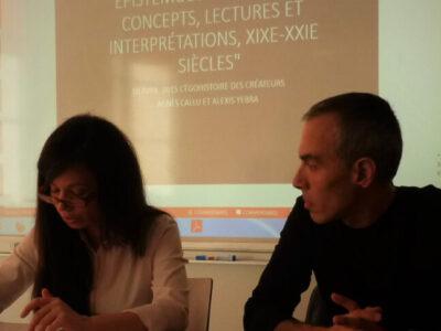 Alexis Yebra's work presentation by Agnès Callu