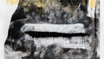 Untitled, spray, acrylic, varnish and pastels on canvas, 210 x 160 cm.