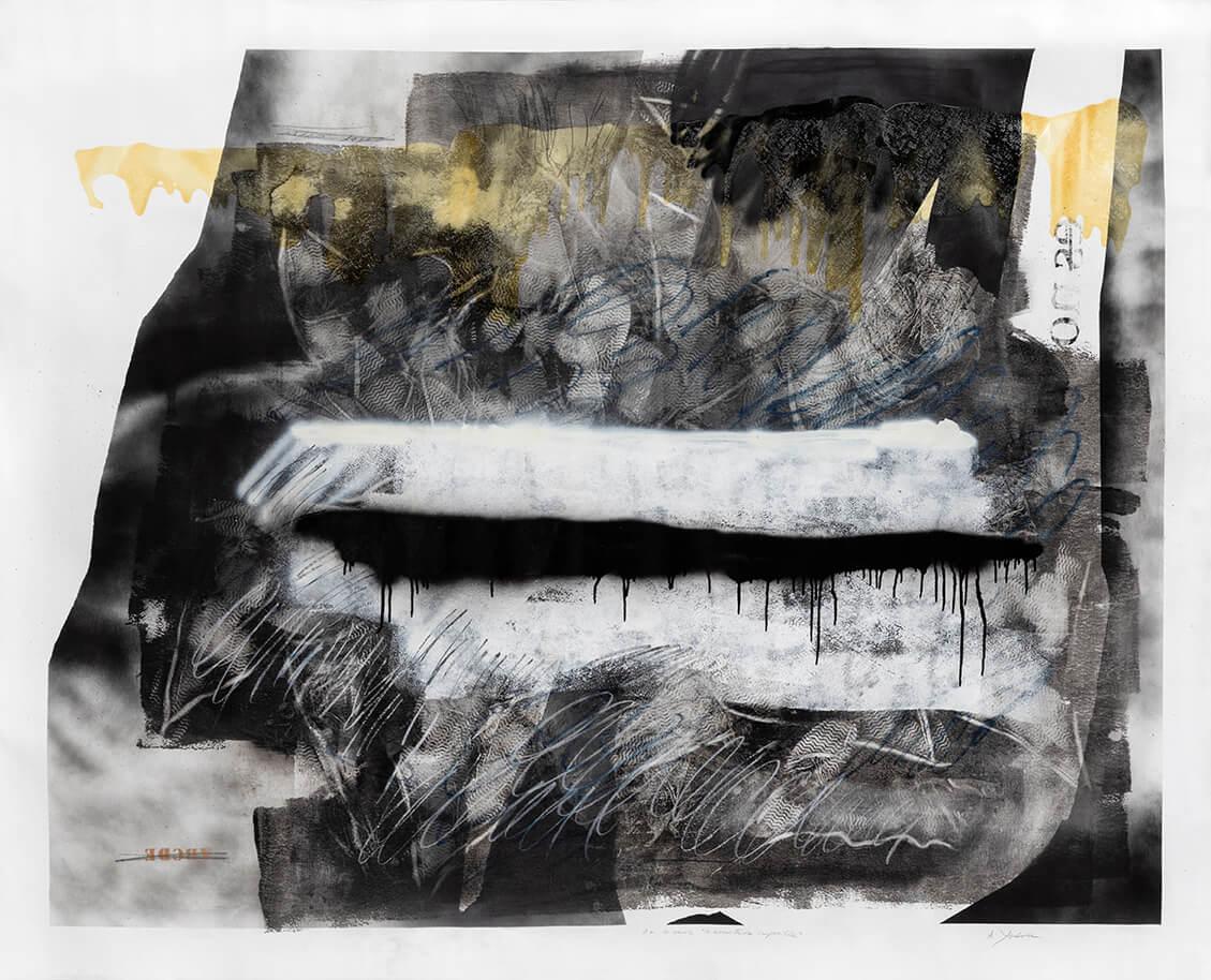 S/T, aerosol, acrílico, barniz y pastel sobre tela, 210 x 160 cm, 2020